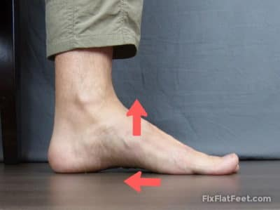 Short foot exercise for flat feet